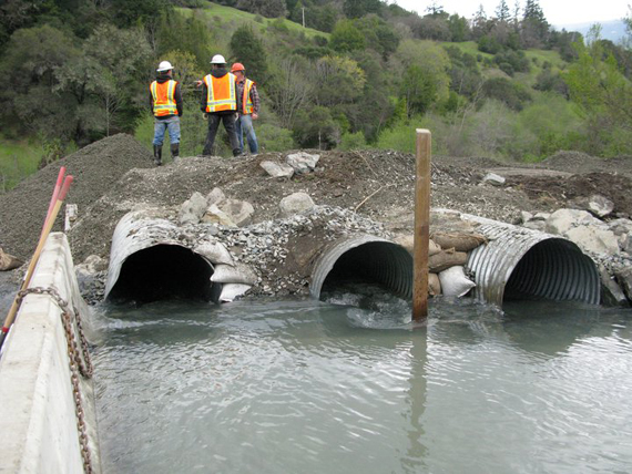 Culverts on Alderpoint Road at Dobbyn Creek