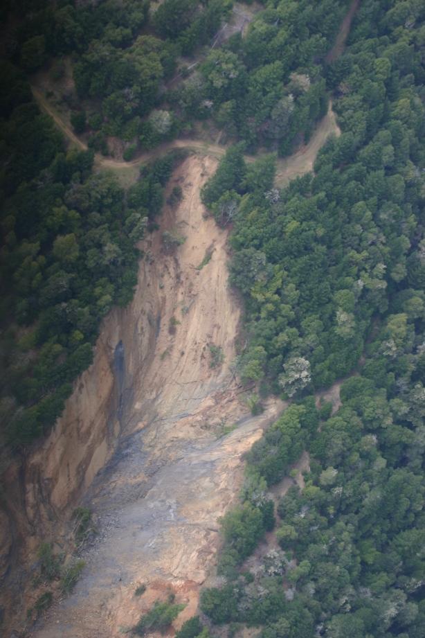 Dobbyn Creek slide - top of slide 5 April 2011