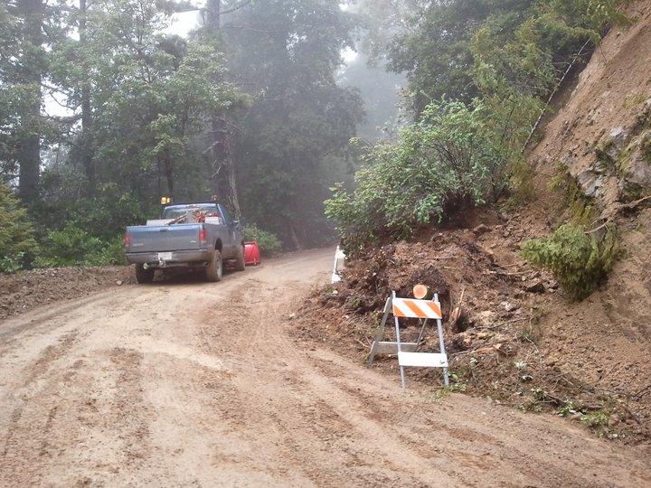 Chemise Mountain Road slide 17 April 2011