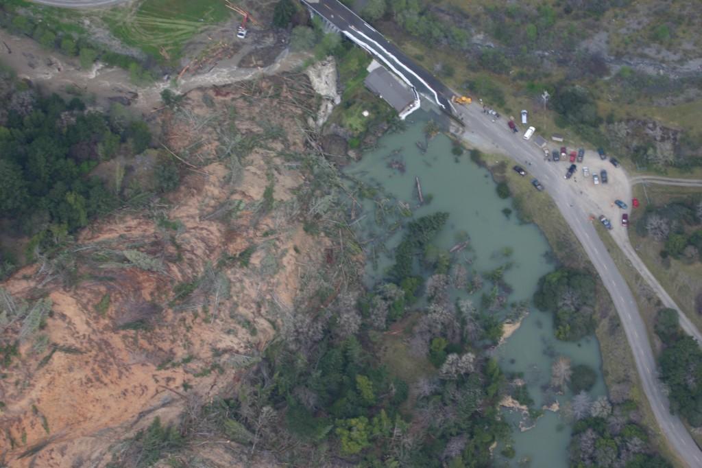 Dobbyn Creek slide 5 April 2011