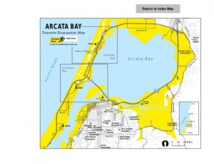 Arcata Bay Tsunami Map