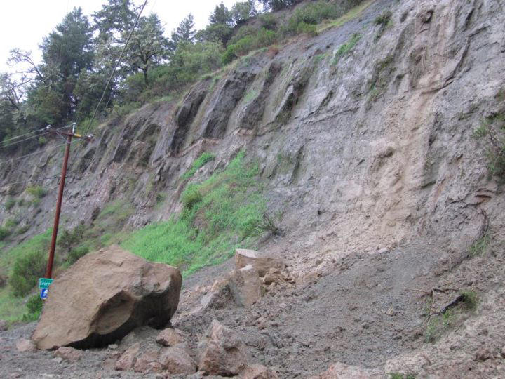 Rock slide at the Bluffs -27 March 2012